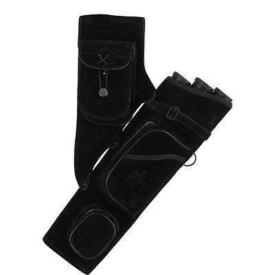 BEARPAW Archery- LEATHER QUIVER TUBE BLACK