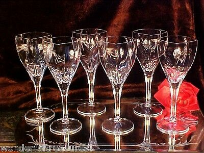6FAB Vintage 10oz Crystal Wine Glasses Stems SQUARE CUPS STEMS RAINBOW colors!