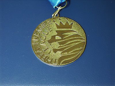 Manchester City 2014 Premier League Champions Medal With Ribbon