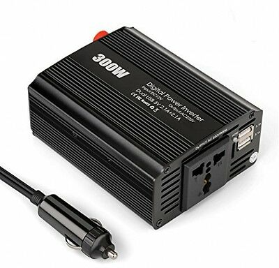Amzdeal 300W Inverter Car Power With 4.2A Dual USB Port,DC 12V To AC 220V With