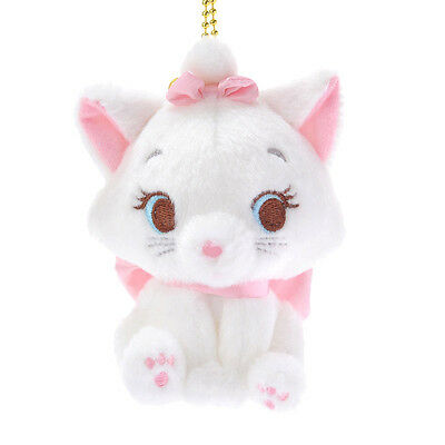 Marie Cat Plush Keychain Sitting ❤ Disney Store Japan The Aristocats