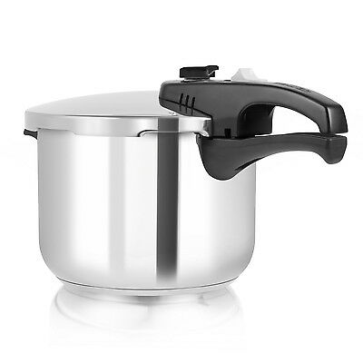 Tower 6 Litre 22cm Stainless Steel Pressure Cooker Food Cooking Catering Quality