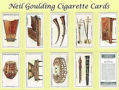 Lambert & Butler - Interesting Musical Instruments 1929 #1 to #25 Cig. Cards