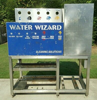 Jim Coleman Water Wizard Pumping Station or Self Serve Car Wash Stainless Frame