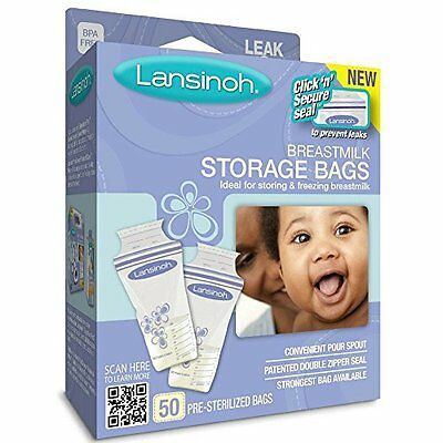 Breast Milk Store Bags Freezing Lay Flat Strongest BPA Free 50 Count (Pack Of 3)