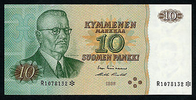 Finland 10 Markkaa 1980 Prefix R Replacement VF/XF Cndition !!!