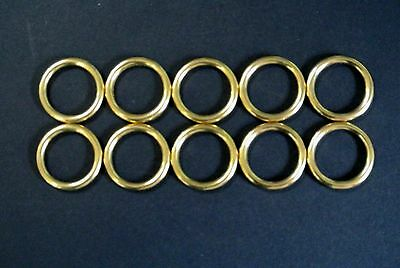 25mm Solid Brass O-Rings x2,x5,x10 Dog Leads,Collars,Horse,Reigns,Leather,Crafts