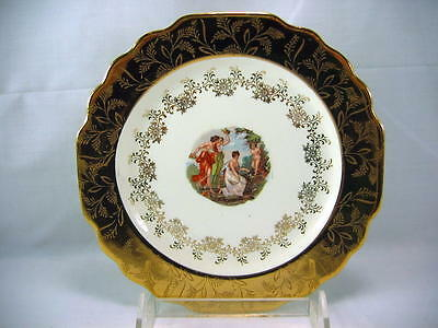 Lido W.S.GEORGE WHITE 22 Karat Gold Accent Plate unused