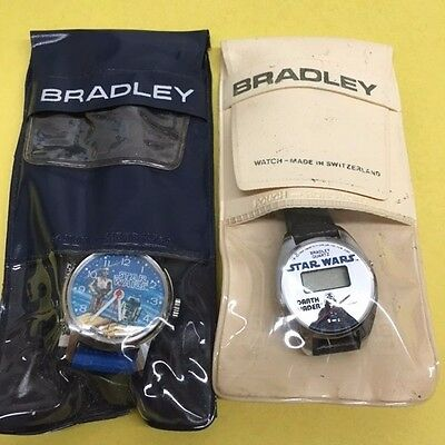 Lot of 2 official Bradley Vintage 1977 Star Wars Watch NEW! Darth Vader C3PO