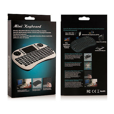2.4Ghz Mini Wireless Keyboard With Touchpad and Multimedia Keys for HTPC PS3 XB