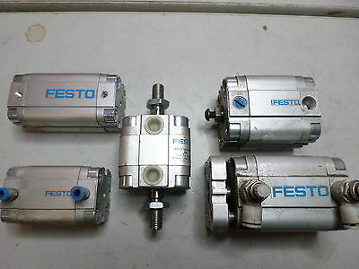 FESTO Bulk Lot of 5 Air Cylinder - ADVU-25 and ADVU-32 Plus more Various strokes