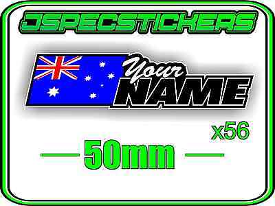 Custom Name Rc Sticker Set A4 Sheet Window Name With Flag Decal Sheet Style 2