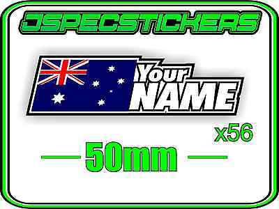 Custom Name Rc Sticker Set A4 Sheet Window Name With Flag Decal Sheet Style 4