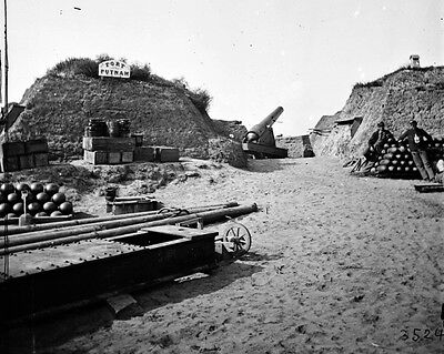 New 11x14 Civil War Photo: Interior of Fort Putnam on Morris Island - 1865
