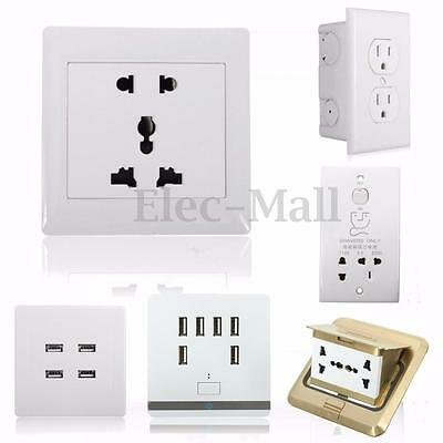 USB Port Wall Socket Charger AC Power Receptacle Pop-up Floor Ground Outlet