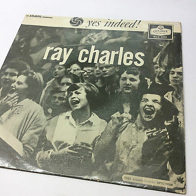 Rare Ray Charles 'Yes Indeed' Mono London Vinyl LP, crackly but listenable copy