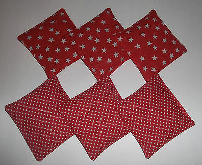 Catnip cat toy/cushion filled with dried catnip. Red with white polka dots.