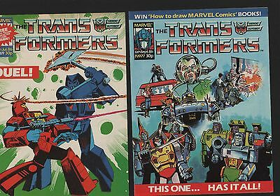 Transformers UK #30 #31 #49 #50 #51 #58 #69 #77 #95 #100 10 issues  C1.540