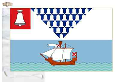 Northern Ireland Belfast City Courtesy Boat Flag Roped & Toggled