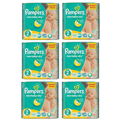 PAMPERS New Baby Mini Gr.2 3-6 kg Sparpack ( bis zu 600 Windeln / Packung )
