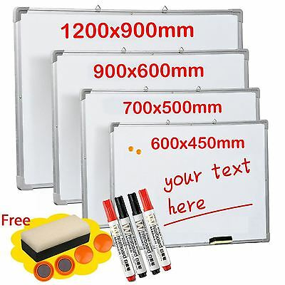 Magnetic Whiteboard Dry Wipe Drawing & Eraser Memo Notice Office School Board