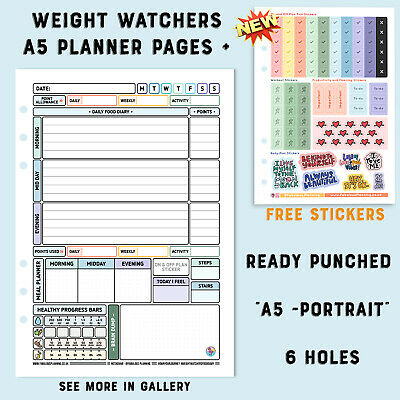 *3mth*Diet Food Diary Slimming World Compatible Weight Loss Tracker Journal Plan