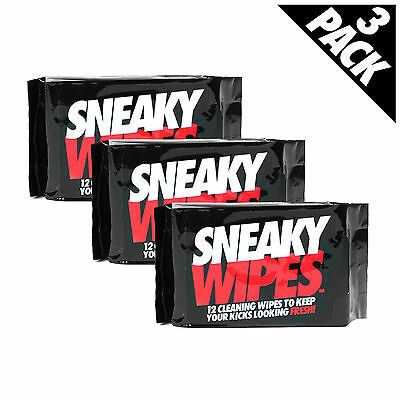 Sneaky Wipes TRIPLE PACK - clean your trainers shoes crep boots suede leather