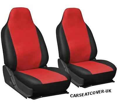 Audi A4 - Luxury RED & BLACK Leatherette Car Seat Covers - 2 x Fronts