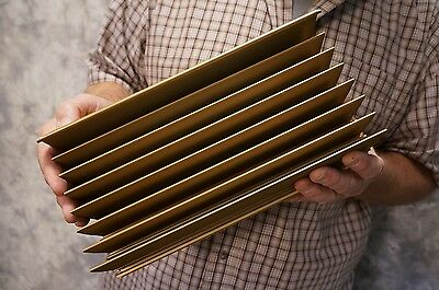 "Lot of 6, Large Aluminum Heat Sink 12.5"" x 6"" x 2.75"" 8, Finned 7+Lbs"