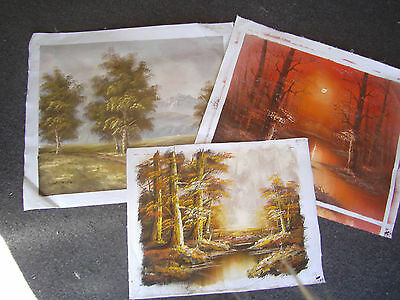 Oil painting on canvas lot of 3 landscape