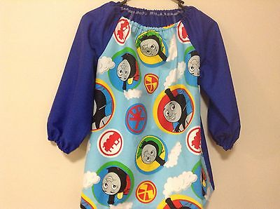 Kids Thomas  Art Smocks Size 4-7 With Thermal Backing For Extra Protection