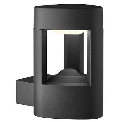 IP44 Grey LED Outdoor Patio Exterior Wall Mount Light Lamp With Clear Diffuser