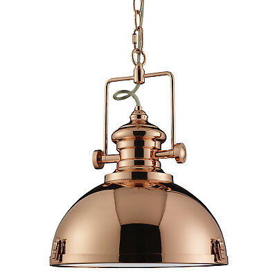 Copper Industrial Ceiling Pendant Light Fitting Home Lighting Frosted Glass Lens