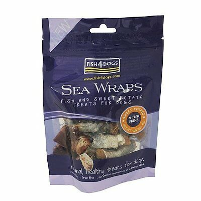 Fish4dogs Sea Wraps with Sweet Potato Dog Treats - 100g - 3 PACK OFFER