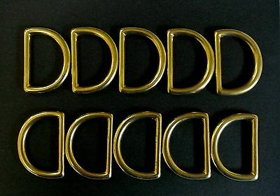 25mm Solid Brass D-Rings x2,x5,x10 Dog Leads,Collars,Horse,Reigns,Leather,Crafts