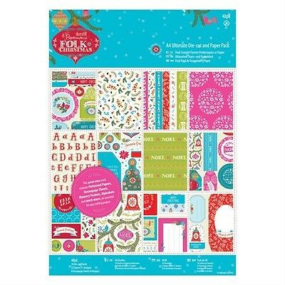 Papermania Folk Christmas A4 Ultimate Die-Cut Decoupage & Paper Cardmaking 48pcs