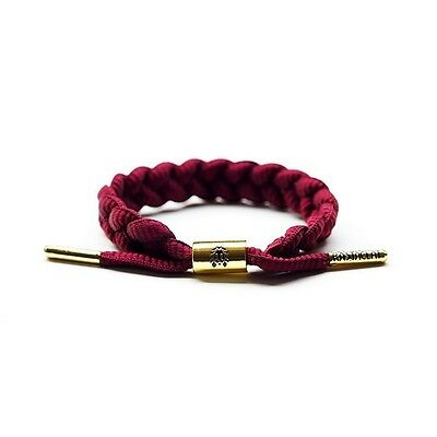 Rastaclat Merlot Burgundy Braided Shoelace Wristband Bracelet Jewelry RC001BURG