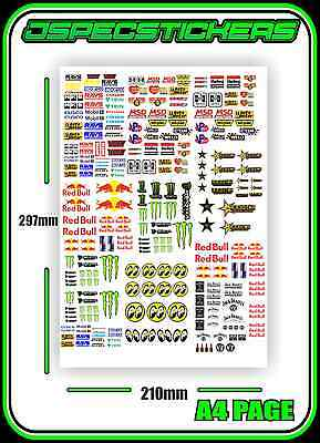 Scale Sticker Sheet A4 R/c 1/10 Drift Drag Car Jdm Stickerbomb Hpi Mst Yokomo