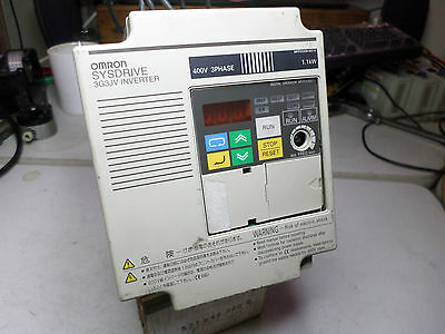 OMRON INVERTER VFD - 3G3JV-A4007 - 1.2Kw - 2HP - 3Ph 380-460AC Input + Filter