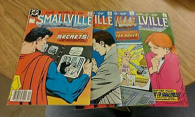 The World of smallville 1 2 3 4 DC comics1988 Complete series Superman tv show