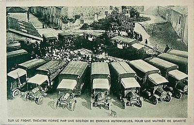 POSTCARD-VINTAGE BUSES.PARIS.CARD STAMPED GRAND PALAIS STAND No.49.1921