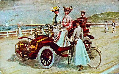 "Postcard-Vintage Vehicles.undivided Back.""a Seaside Run"".american Card."