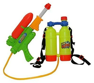 """SINTECHNO Water Gun with Backpack Double Water Tanks, 17"""""""