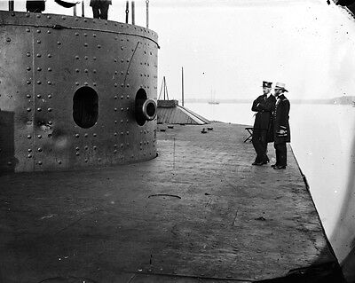 New 8x10 Civil War Photo: Deck & Turret of Iron Clad USS MONITOR, 1862