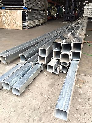 Au stocks ! Galvanized Steel Square Tube/ Pipe /Fence Post 6m*80mm*80mm*3mm