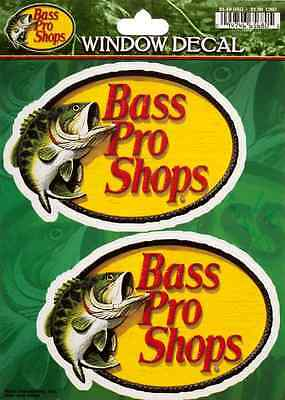 2 Bass Pro Shops Sticker 4.5in each Fishing decal set of 2 stickers si