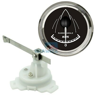 KUS Rudder Angle Indicator Gauge With Marine/Boat Rudder Sensor 52mm 12V/24V