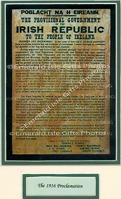 Ireland Easter Rising 1916 Proclamation Old Irish Photo - Size Selectable