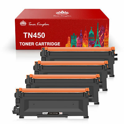 4 x High Yield TN-450 for Brother TN450 Toner DCP-7060D 7065DN MFC-7360N 7460DN