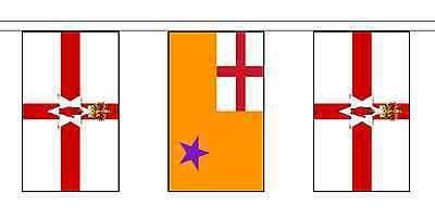 Orange Order & Northern Ireland Polyester Flag Bunting - 5m with 14 Flags